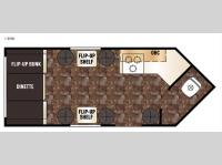 Floorplan - 2016 Forest River RV Cherokee Grey Wolf 14NB