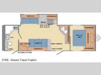 Floorplan - 2016 Shasta RVs Revere 27RB