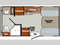 Floorplan - 2016 Gulf Stream RV Vista Cruiser 15RBD