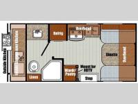 Floorplan - 2016 Gulf Stream RV Vista Cruiser 17RKM