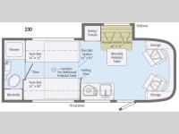 Floorplan - 2016 Winnebago Trend 23D