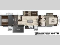 Floorplan - 2016 Grand Design Momentum 399TH