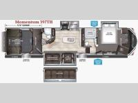 Floorplan - 2017 Grand Design Momentum 397TH