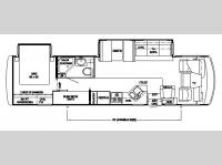 Floorplan - 2007 Newmar Canyon Star 3410