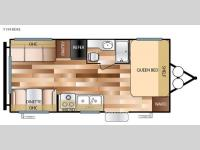 Floorplan - 2017 Forest River RV Wildwood X-Lite 191RDXL