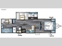 Floorplan - 2017 Forest River RV Salem 30KQBSS