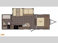 Floorplan - 2017 CrossRoads RV Sunset Trail Super Lite ST250RB