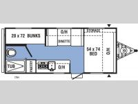 Floorplan - 2017 Coachmen RV Clipper Ultra-Lite 17BH