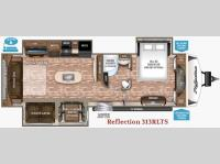Floorplan - 2017 Grand Design Reflection 313RLTS