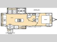 Floorplan - 2017 Coachmen RV Catalina 293RLDS