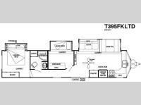 Floorplan - 2016 Forest River RV Salem Villa Series 395FKLTD