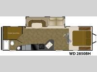 Floorplan - 2017 Heartland Wilderness 2850BH