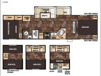 Floorplan - 2017 Forest River RV Cherokee 284BF