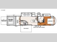 Floorplan - 2017 Forest River RV XLR Thunderbolt 420AMP