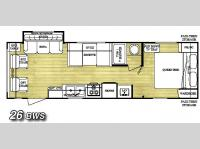 Floorplan - 2007 Gulf Stream RV Conquest 26BWS