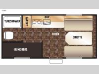 Floorplan - 2017 Forest River RV Cherokee Wolf Pup 16BH