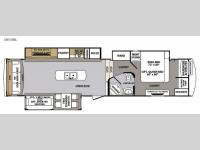 Floorplan - 2017 Forest River RV Cardinal 3850RL