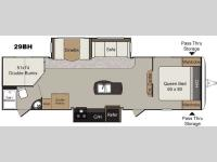 Floorplan - 2017 Keystone RV Passport 29BH Elite