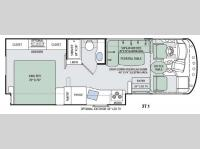 Floorplan - 2017 Thor Motor Coach ACE 27.1