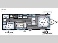 Floorplan - 2016 Forest River RV Salem Cruise Lite 261BHXL