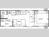Floorplan - 2007 Forest River RV Cherokee 28DD
