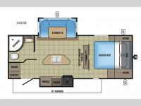 Floorplan - 2017 Jayco White Hawk 24RDB