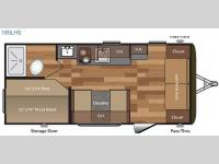 Floorplan - 2017 Keystone RV Hideout Single Axle 185LHS