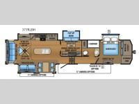 Floorplan - 2017 Jayco North Point 377RLBH