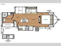Floorplan - 2016 Forest River RV Vibe 279RBS