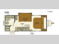 Floorplan - 2017 EverGreen RV I-Go Cloud Series C183RB