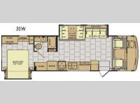 Floorplan - 2017 Fleetwood RV Flair 31W