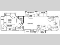Floorplan - 2007 National RV Pacifica TS36A