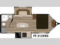 Floorplan - 2017 Cruiser Fun Finder XTREME LITE F-212VKS