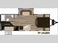 Floorplan - 2017 Cruiser Fun Finder XTREME LITE F-242BDS