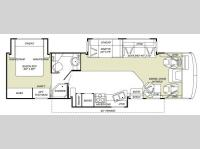 Floorplan - 2007 Fleetwood RV Flair 34F