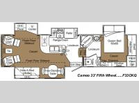 Floorplan - 2007 Carriage Cameo F33CKQ