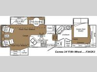 Floorplan - 2007 Carriage Cameo F34CK3