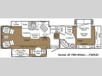Floorplan - 2007 Carriage Cameo F35KS3