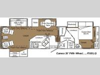 Floorplan - 2007 Carriage Cameo F35SLQ