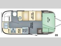 Floorplan - 2017 Airstream RV Flying Cloud 20