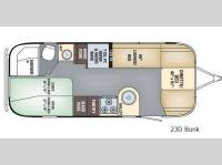 Floorplan - 2017 Airstream RV Flying Cloud 23D Bunk