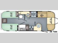Floorplan - 2017 Airstream RV Flying Cloud 25 Twin
