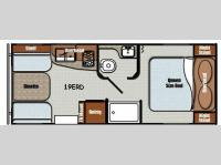 Floorplan - 2017 Gulf Stream RV Vintage Cruiser 19ERD