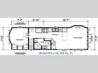 Floorplan - 2017 Athens Park Homes Athens Park Series 553 Loft