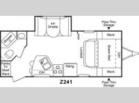 Floorplan - 2004 Keystone RV Zeppelin Z 241