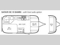 Floorplan - 2007 Airstream RV Safari Special Edition 19 Bambi