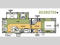 Floorplan - 2007 Forest River RV Flagstaff 8528GTSS