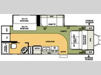 Floorplan - 2007 Forest River RV Flagstaff 25BHSS