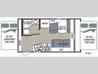 Floorplan - 2017 Dutchmen RV Kodiak Ultra Lite 172E