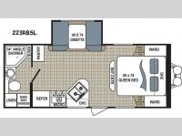 Floorplan - 2017 Dutchmen RV Kodiak Ultra Lite 223RBSL